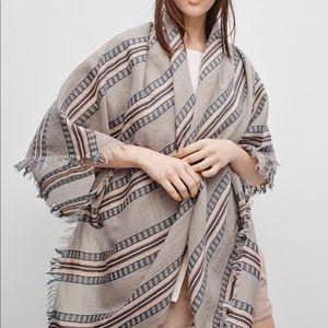 Aritzia Wilfred Mixed Stripes Blanket Scarf